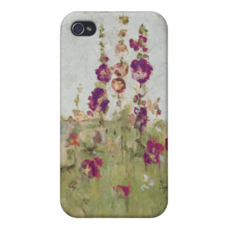 Hollyhocks by the Sea iPhone 4/4S Cover