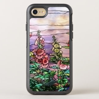 Hollyhocks Vintage Floral Tiffany Stained Glass OtterBox Symmetry iPhone 8/7 Case