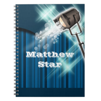 Hollywood actor stage name blue notebook