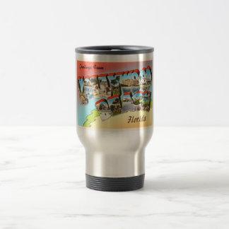 Hollywood Beach Florida FL Vintage Travel Souvenir Travel Mug