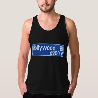 Hollywood Boulevard, Los Angeles, CA Street Sign Tank Top