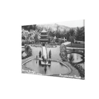 Hollywood, CA Bernheimer Home in Japanese Garden Canvas Print