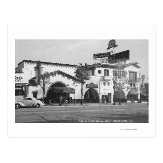 Hollywood, CA Brown Derby Restaurant View Postcard