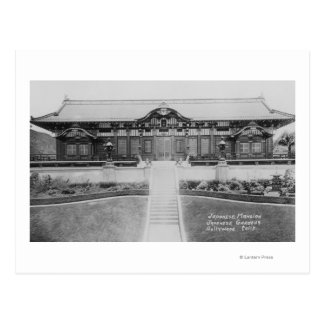 Hollywood, CA Japanese Mansion in Gardens Postcard