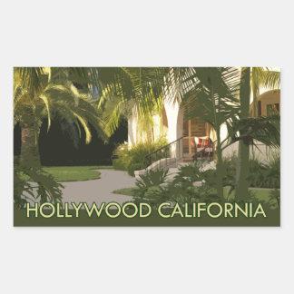 Hollywood California Retro Suitcase Labels