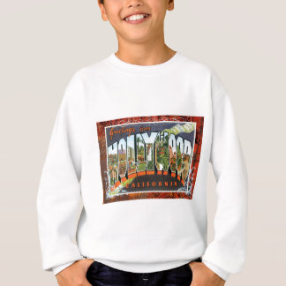 Hollywood California Vintage Travel Postcard Sweatshirt