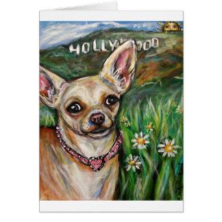 Hollywood Chihuahua love Card