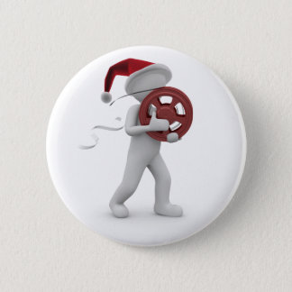 hollywood christmas 2 inch round button