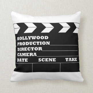 Hollywood Clapboard Throw Pillow