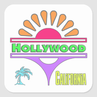 """""""Hollywood Colorful 1"""" Sticker"""
