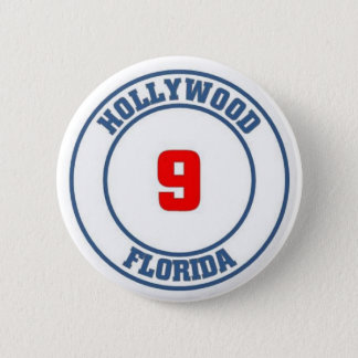 Hollywood florida 2 inch round button