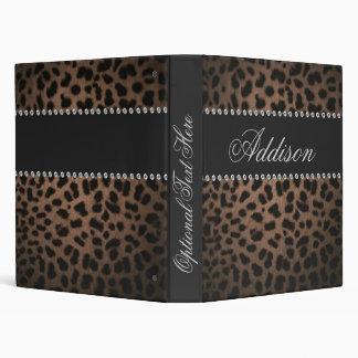 Hollywood Glam Rhinestone Leopard Bling Binder
