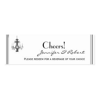 Hollywood Glamor Chandelier Wedding Drink Tickets Business Cards