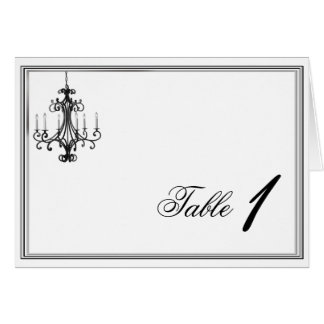 Hollywood Glamour Chandelier Table Number