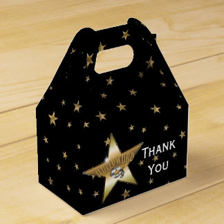 HOLLYWOOD GOLD STAR Birthday Party Favor Boxes