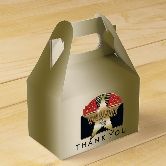 HOLLYWOOD Golden Retro Birthday Party Favour Boxes