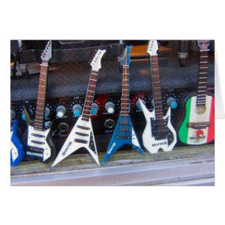 Hollywood Guitars Card