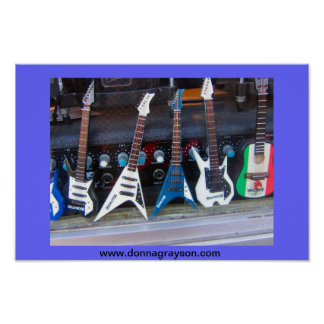 Hollywood Guitars Poster