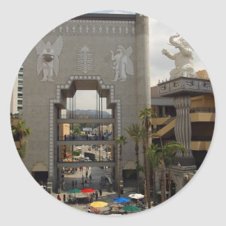 Hollywood Highland Shopping Center In Los Angeles Classic Round Sticker