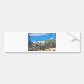 hollywood hills bumper sticker