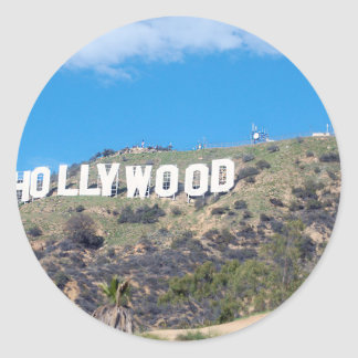 hollywood hills classic round sticker