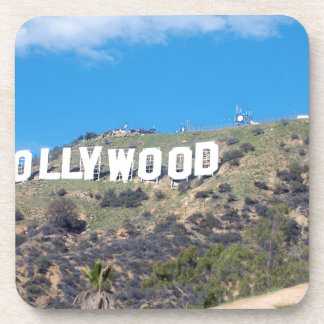 hollywood hills drink coaster