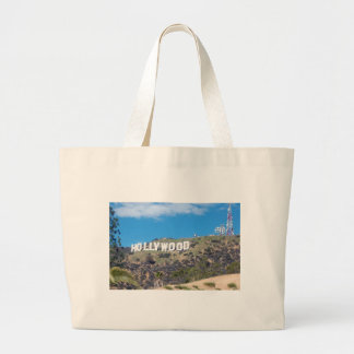 hollywood hills large tote bag