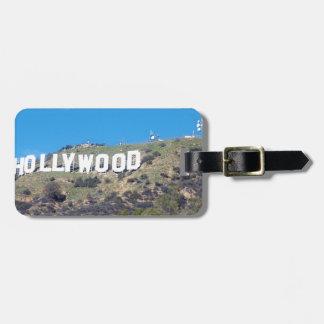 hollywood hills luggage tag