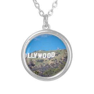 hollywood hills silver plated necklace