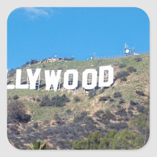 hollywood hills square sticker