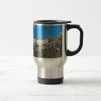 hollywood hills travel mug