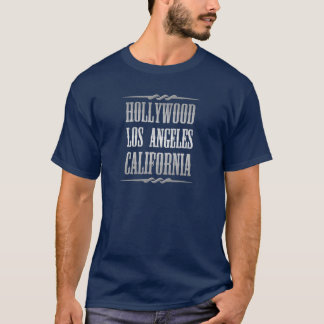 Hollywood Los angeles California Silver Color T-Shirt