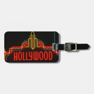 Hollywood neon sign, Los Angeles, California Luggage Tag