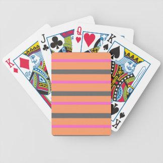 Hollywood Orange Stripes Bicycle Playing Cards