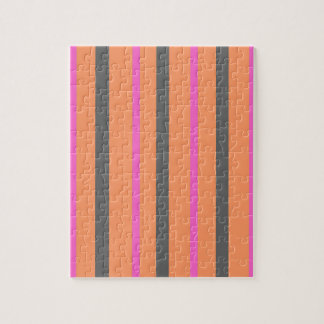 Hollywood Orange Stripes Jigsaw Puzzle