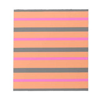 Hollywood Orange Stripes Notepad