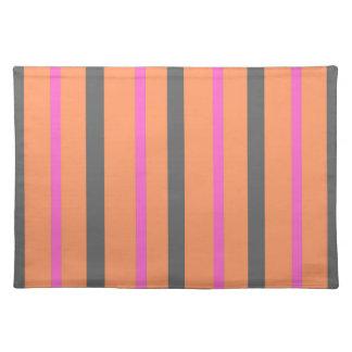 Hollywood Orange Stripes Placemat