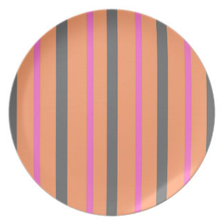 Hollywood Orange Stripes Plate