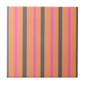 Hollywood Orange Stripes Tile