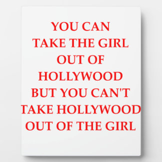HOLLYWOOD PLAQUE