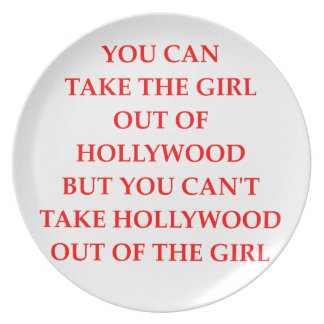 HOLLYWOOD PLATE