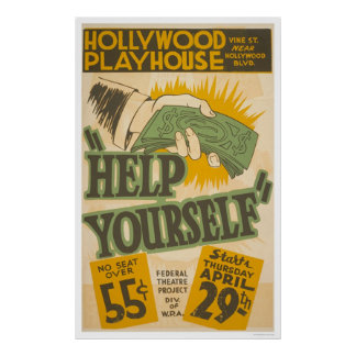 Hollywood Playhouse 1937 WPA Poster