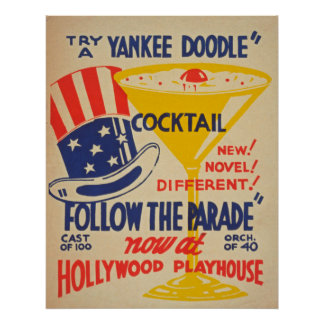 Hollywood Playhouse Vintage Poster