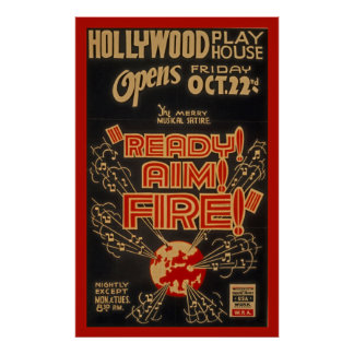 Hollywood Playhouse WPA Vintage Theatre Poster