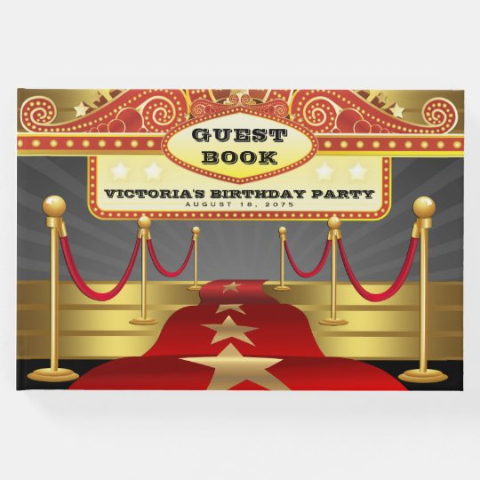 Hollywood Red Carpet Birthday Party Guest Book