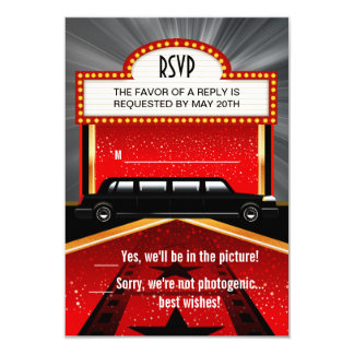 Hollywood Red Carpet RSVP Card