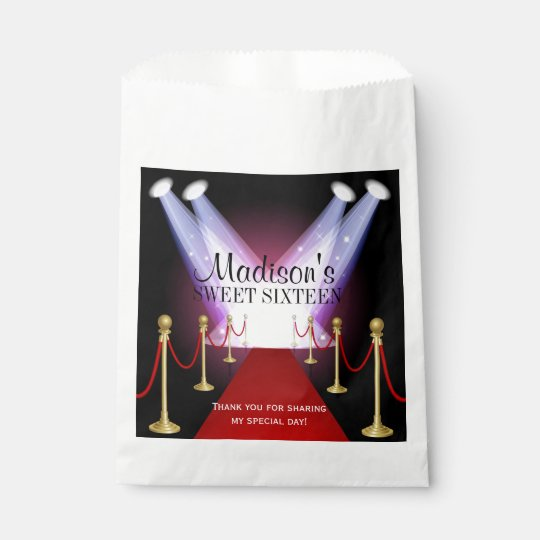 Hollywood Red Carpet Sweet 16 Favour Candy Bag