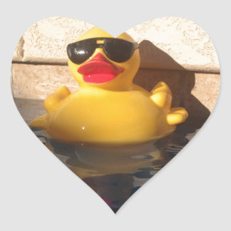 Hollywood Rubber Duckie Heart Sticker