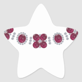 Hollywood Ruby Glamour Necklace Star Sticker
