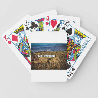 Hollywood Sign Iconic Mountains Los Angeles Bicycle Playing Cards